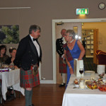 Sir Archie presented with birthday gift at Clan Dinner 2014