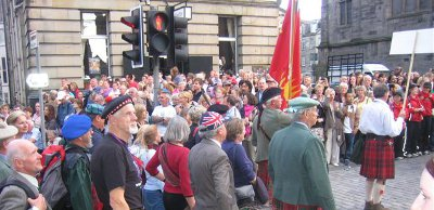 The Clan Grant marching up the Royal Mile