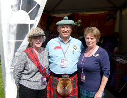 Members outside the Clan Grant Society Tent